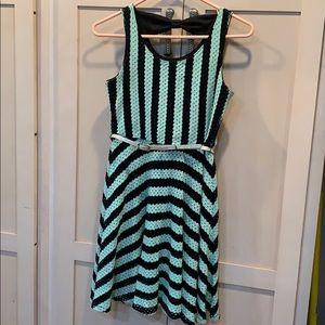 💐5/25 justice dress sleeveless black lined